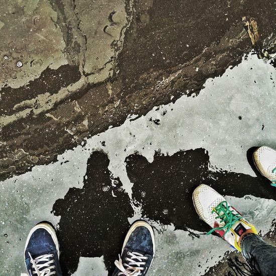 Street Rain Reflection Water Reflections