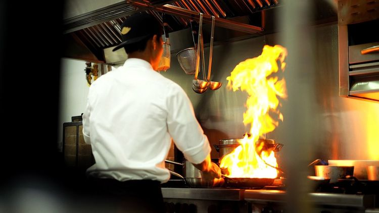 Inside the kitchen Heat - Temperature Real People Flame Occupation Indoors  Working Burning