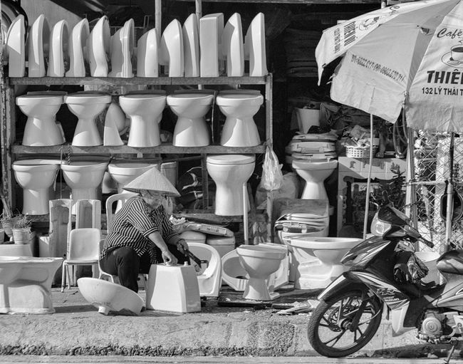 Shopping cart for sale at market stall