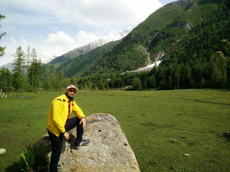 beautiful greenery of kinnaur Travel Travel Destinations Vacations Trip Nature Beautiful View Edge Of The World Greenry Snowy Mountains Riverside Beautiful Nature Landscapes With WhiteWall Hiker Pine Woodland Mountain Range Backpack Hooded Shirt