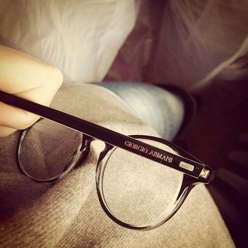 His Glasses