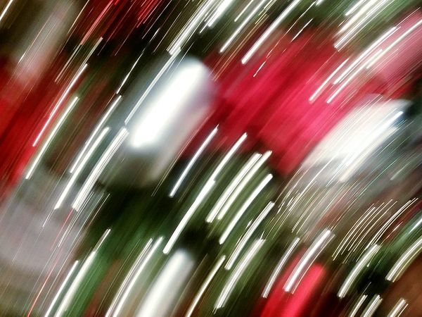 Red Green Silver  White Red Streak Striations Ornaments Movement