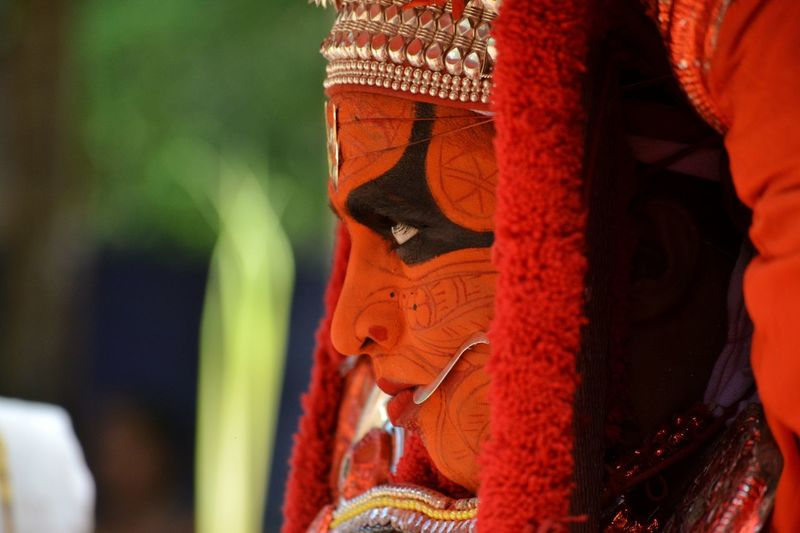 Tourism Keralatourism Kerala Kerala India India Indiapictures Kannurphotos Kannur Theyyams Of Kannur Theyyam Art People Culture And Tradition Red No People Day Statue Close-up Outdoors First Eyeem Photo