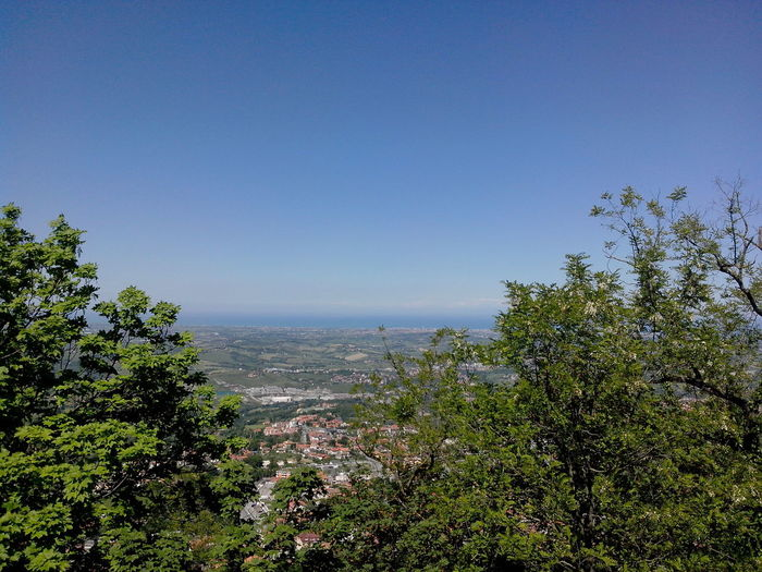 City Of San Marino Clear Sky Day Horizon Over Water Landscape Monte Titano More Vehicles Than People Mountain Nature Nice And Clean San Marino Country.... Sunny Days View From Above