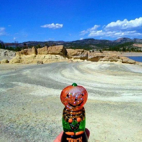 Pumpkin exploring CanyonFerry beach Summerissoclose Tidesolow Helena Montana