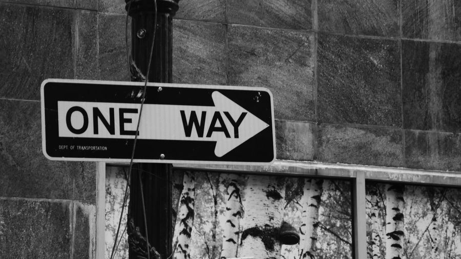 EyeEmNewHere NYC New York One Way Signal USA Blackandwhite Cartellostradale Stradal