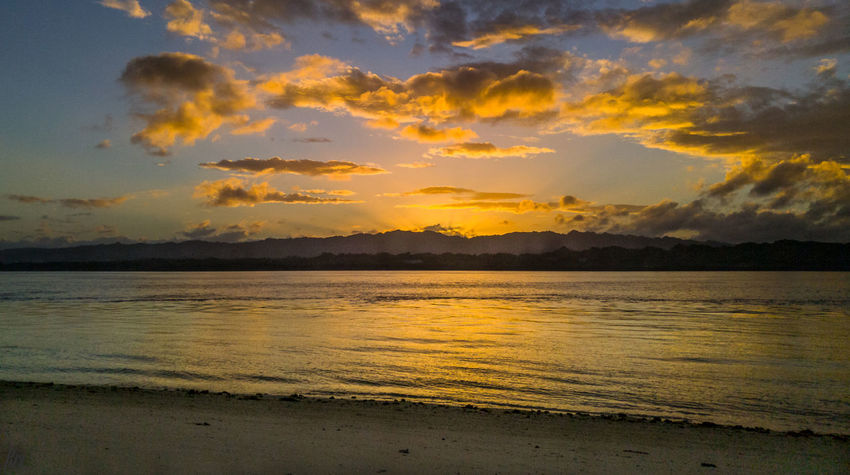Canigao island Sunset Reflection Sea Nature Gold Colored Water Beach Gold Outdoors Tranquility Scenics Cloud - Sky Sky No People Sun Yellow Tranquil Scene Summer Beauty In Nature Sunlight