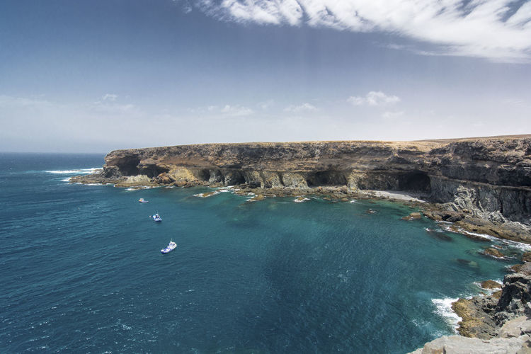 High Angle View Of Cliffs