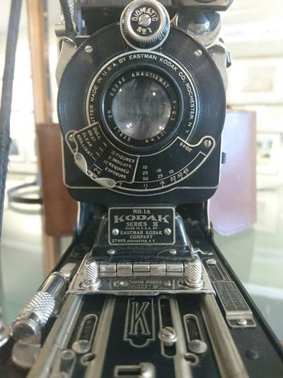 Throwback Kodak Kodak Camera Vintage Vintage Camera Close-up On Show Display Behind Glass Museum Classic Phone Photography Day Out Cornwall