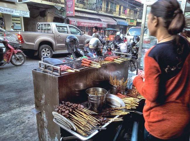 A favorite stall in town near Central market selling porridge, beef skewers and Cambodian sausages with French bread toasted. Lumia930 Mobilephotography WindowsPhonePhotography WeLoveLumia ShotOnMyLumia  Lumiaography Theappwhisperer Makemoments MoreLumiaLove GoodRadShot TheLumians Fhotoroom Lumia PicHitMe EyeEm EyeEm_O MenchFeature Photography Nban NbanFamily Pixelpanda Visitorg Aop_Lab Natgeo Natgeotravel NatGeoYourShot AdventureVisuals Cambodia PhnomPenh My_Mobile_Photography @fhotoroom_ @thelumians @lumiavoices @pichitme @windowsphonephotography @microsoftwindowsphone @microsoftlumiaphotography @mobile_photography @moment_lens @goodradshot @mobilephotoblog @street_hunters @lumia @pixel_panda_ @eyeem_o @photocrowd @photoadvices @nothingbutanokia @worldphotoorg