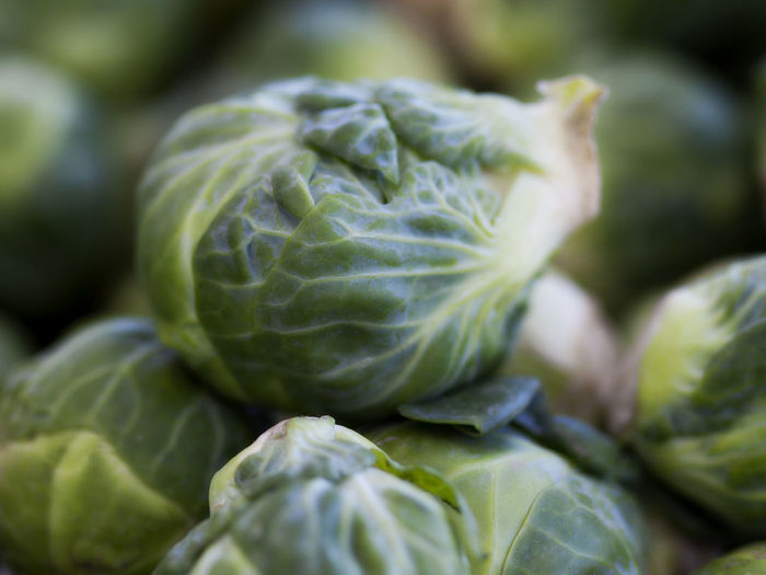 Close-Up Of Brussels Sprouts At Market