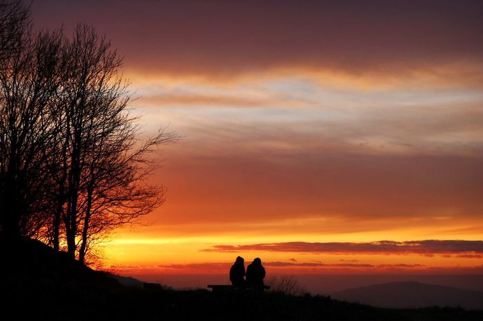 Gorgeous sunset over the Cotswolds! Sunset Silhouette Sky Beauty In Nature Scenics Landscape Tranquil Scene Outdoors Photography Cotswolds Photooftheday