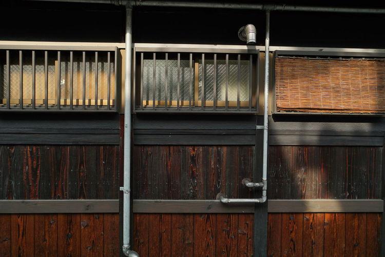 Full frame shot of metal in cage
