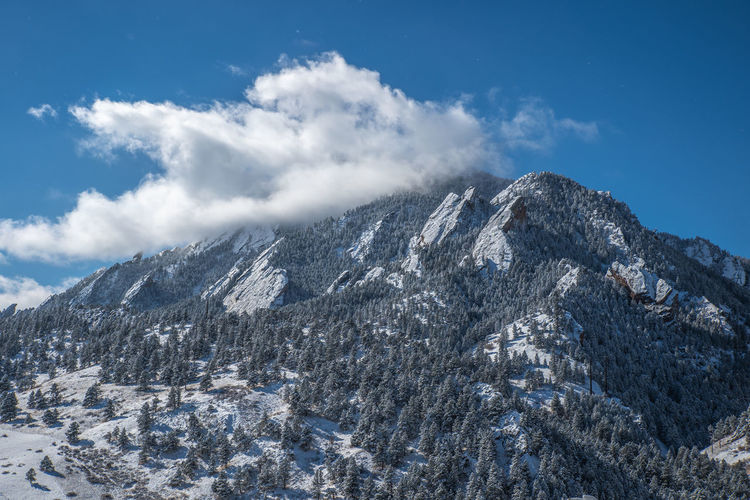 Boulder Colorado Boulder Snow Winter Wonderland Flatirons Rocky Mountains Colorado Mountain Cold Temperature Sky Cloud - Sky Winter Beauty In Nature Environment No People Landscape Nature Scenics - Nature Tranquil Scene Day Tranquility Range Non-urban Scene Outdoors Mountain Peak Snowcapped Mountain Formation