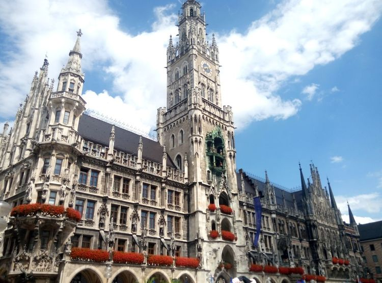 Architecture Travel Destinations History Gothic Style Building Exterior Cloud - Sky Built Structure Low Angle View Sky Outdoors Day No People City Clock Face München Your Ticket To Europe