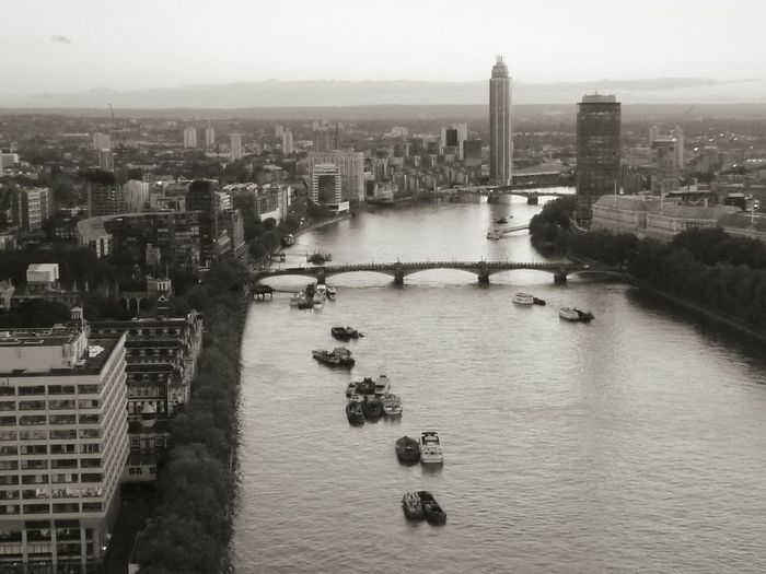 I love London 💜 Aerial View Architecture Bridge Building Exterior Built Structure City City Life Cityscape Community Development England Human Settlement London Eye Mode Of Transport Monochrome Nautical Vessel Outdoors Residential District River River Thames Top Perspective Transportation Landscapes With WhiteWall Waterfront pmg_lon London Lifestyle