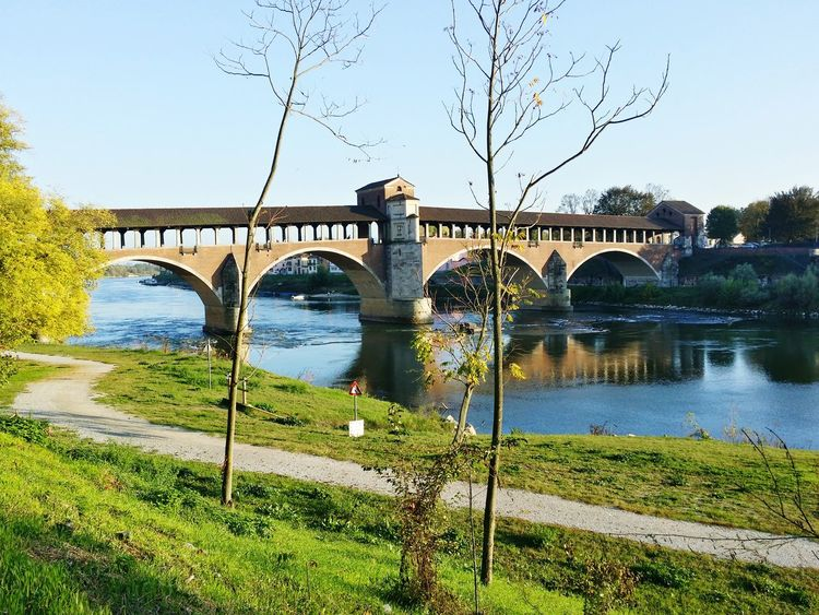 Pavia Ponte Coperto Bridge Italia Italy Lombardia, Italy Nature Architecture Connection Travel Destinations First Eyeem Photo