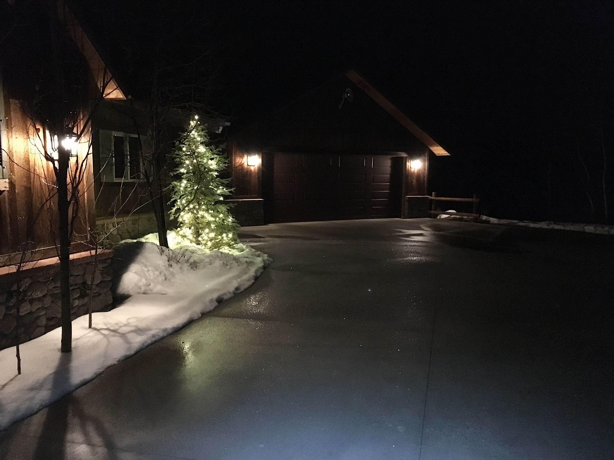 night, winter, snow, illuminated, cold temperature, no people, built structure, building exterior, architecture, frozen, outdoors, nature, tree