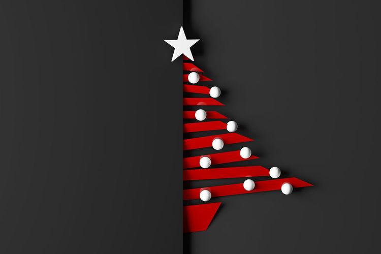 Close-up of illuminated christmas lights on black background