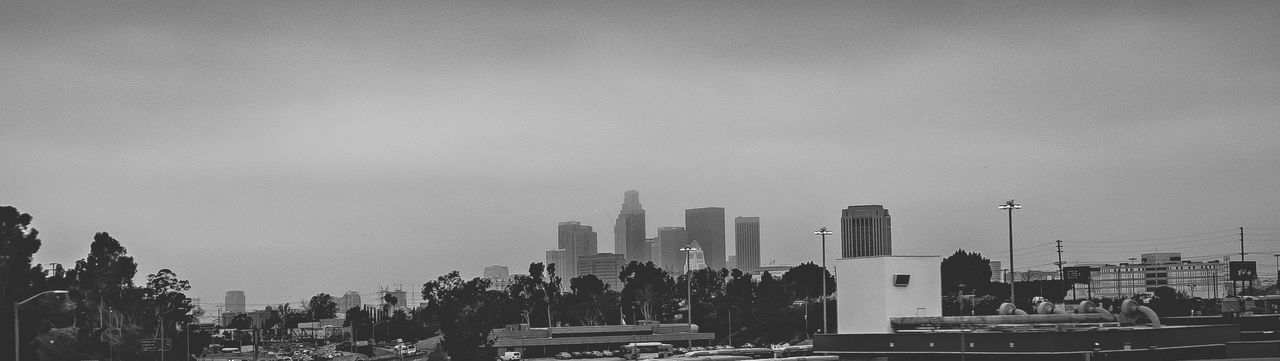 Downtown Los Angeles Skyline Panorama in Black and White Architecture Building Exterior Built Structure City Cityscape Day Downtown District DTLA DTLA Skyline Los Angeles, California Los Ángeles No People Outdoors Panorama Panoramic Sky Skyscraper Travel Destinations Urban Skyline Adapted To The City