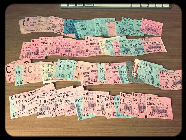 81 Movie Ticket Obsession