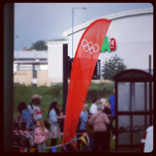 A little bit of the Olympics comes to Harlow Olympictorch Olympicrelay london2012