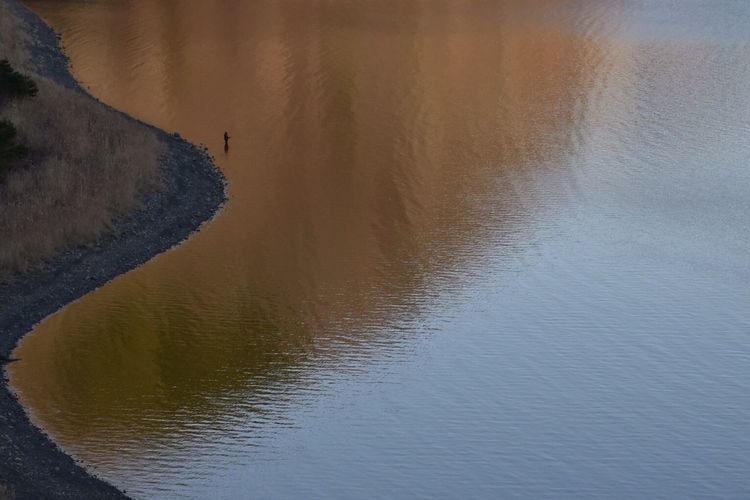 Lake Angler Motosuko Landscape Nature