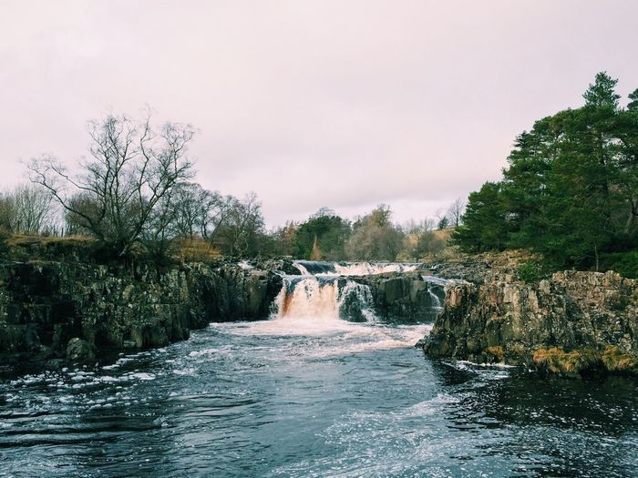 River Tees at Low Force. Teesdale, County Durham, England. Photo by Tom Bland. Waterfall River River Tees Water Flowing Water Countryside IPhoneography IPhone Landscape Low Force Pennines Pennine Way Rural Scenes Overcast Cold England Rural Teesdale Outdoors Nature