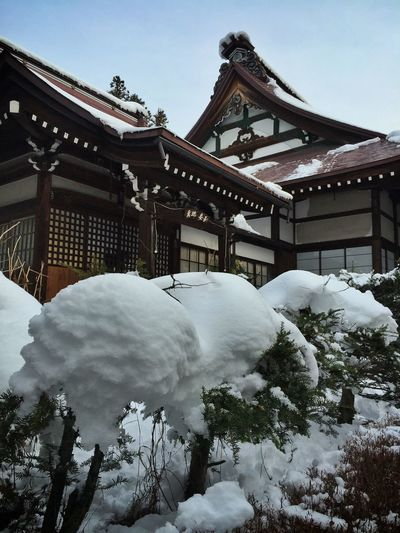 Snow-covered Tounin Temple in Takayama Kx2014 Traveling Nature