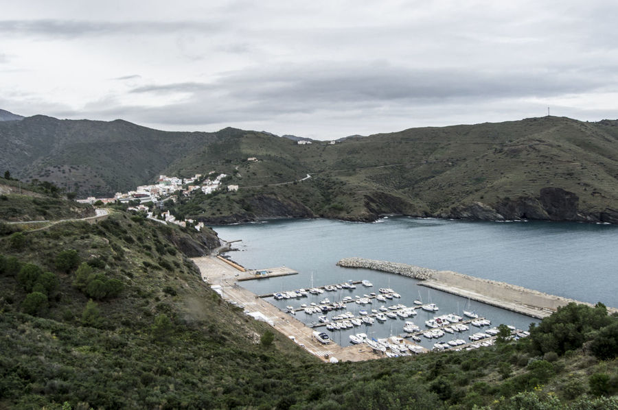 Portbou Beauty In Nature Cloud Cloud - Sky Cloudy Coastline Costa Brava Day Elevated View Hill Idyllic Landscape Mediterranean  Mountain Mountain Range Nature No People Non-urban Scene Outdoors Portbou Remote Scenics Sky Tranquil Scene Tranquility Water