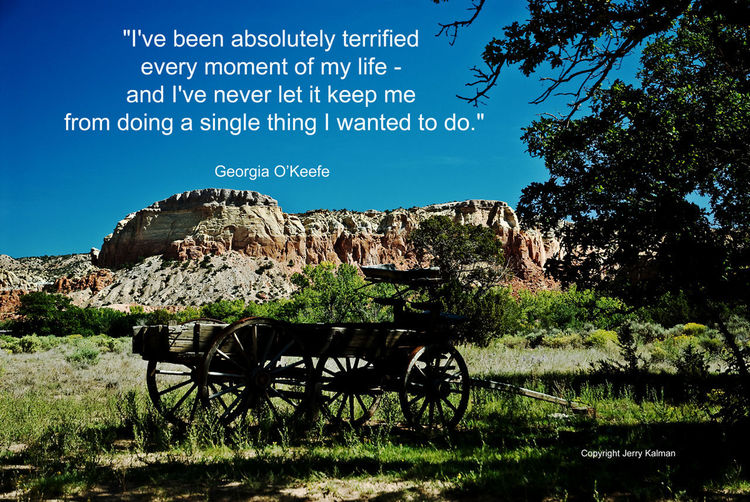 Today we celebrate the birthday of noted #American #artist #GeorgiaOKeefe and we do so with one of her #quotes and a scene near her famed ranch in #AbiquiuNewMexico, If this #quotograph speaks to you, please #repost it. Abiquiu Artist Georgia O'keeffe New Mexico Quotes Buckboard Quotograph