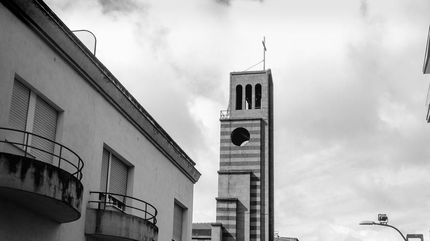Architecture Bell Tower Black And White Blackandwhite Building Exterior Built Structure Church EyeEm Gallery Eyeemblack&white Low Angle View Monochrome Monochrome _ Collection Monochrome Photography No People Outdoors Street Photography Streetphotography