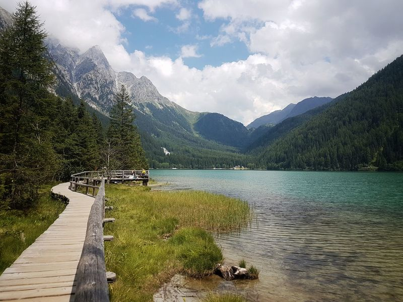 Water EyeEmNewHere Nature Green Color Beauty In Nature Italy❤️ Alto Adige Mountain Südtirol Summer Path Pathway Lake