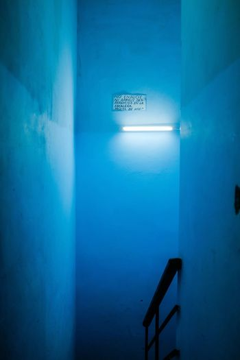 Cuba Cuba Staircase Steps And Staircases Text Blue Indoors  Steps No People Architecture Illuminated Day