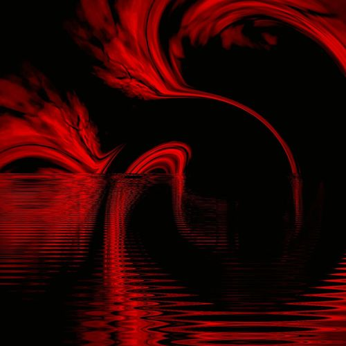 """""""Fire swans"""" (2016) Abstract Motion Red Reflection Distorted Images Abstract Art Textures And Surfaces Liquid Weird Art Weird But Beautiful"""
