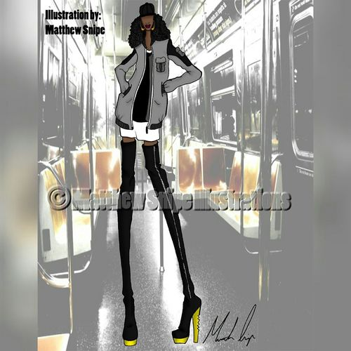 Thigh Highs in the NY! Fashion Fashiondesign FashionDesigner Fashionillustration Fashionillustrator Brooklyn CrownHeights
