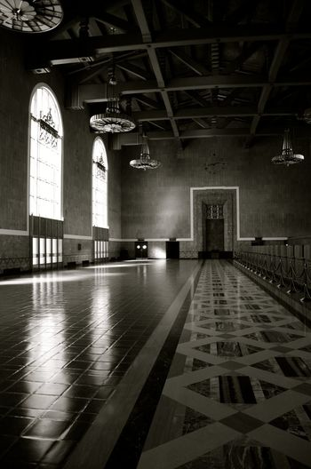Architecture Black And White Photography Los Angeles Train Station Los Angeles Train Statoin Timeless Train Station Union Station LA Window Light