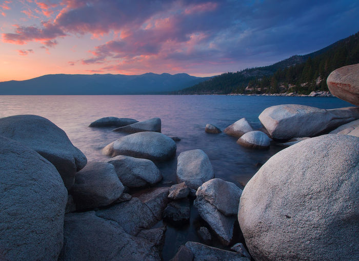 Beautiful Lake Tahoe California Beach Beauty In Nature Boulder Boulders Close-up Cloud - Sky Day Lake Lake View Lakeshore Lakeside Landscape Mountain Nature No People Outdoors Pebble Beach Rocks Scenics Sea Sky Sunset Tahoe Tranquil Scene Tranquility Travel Destinations Water