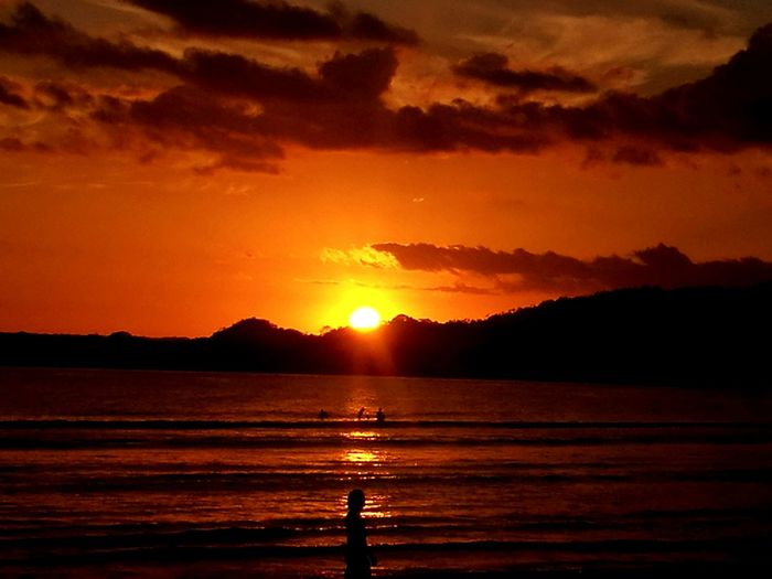 pochote beach sunset Sunset Reflection Orange Color Scenics Nature Beauty In Nature No People