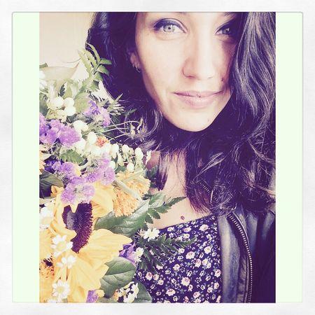 Flowergirl Flowerpower🌸 Happygirl Birthday Beauty BrownHairDontCare BlueEyes