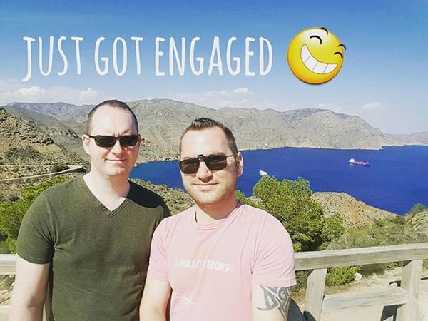 Life couldn't be better. Good health and a job helping others and now I'm engaged to my partner in crime. Engagement Engaged Healthychoices Juiceplus Gay Weddingbells Happiness Happy Gayengagement