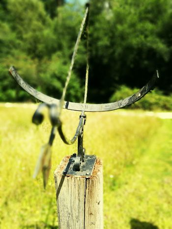 Bow and arrow sundial at Ashdown Forest Sundial RomanNumerals