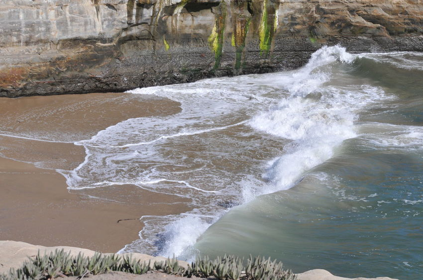 rolling ocean waves in a cove Beach Beach Photography Beach Shore Beauty In Nature Cove Day Lagoon Motion Nature No People Ocean Outdoors Power In Nature Shore Splashing Water Waves Crashing Waves, Ocean, Nature