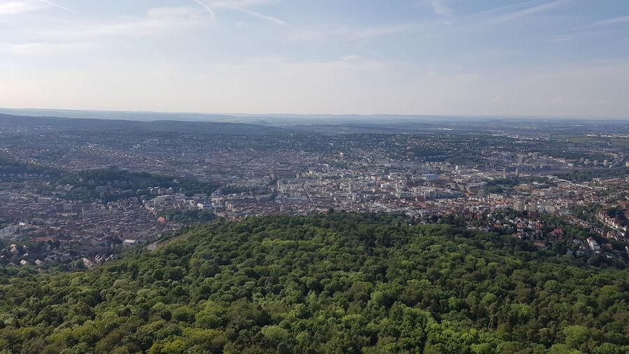 Nice View Stuttgart From Above Sky Landscape Nice View Fernsehturm Stuttgart The First 2016