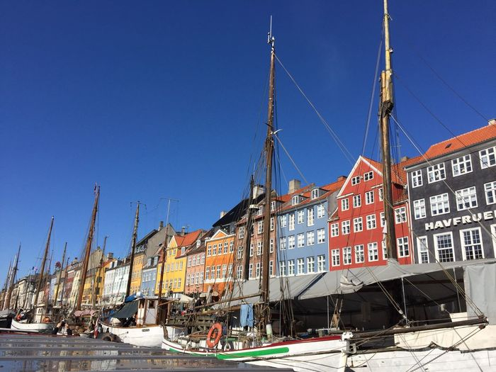 Let life be colourful🎈 Sky Water Sailboat Architecture Denmark Enjoying Life Enjoying The Sun Vacations Relaxing