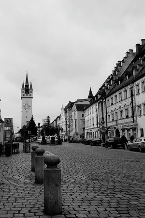 Straubing City Straubing Streetphotography Building Exterior Architecture Travel Destinations Outdoors Built Structure Clock Tower Day City Sky