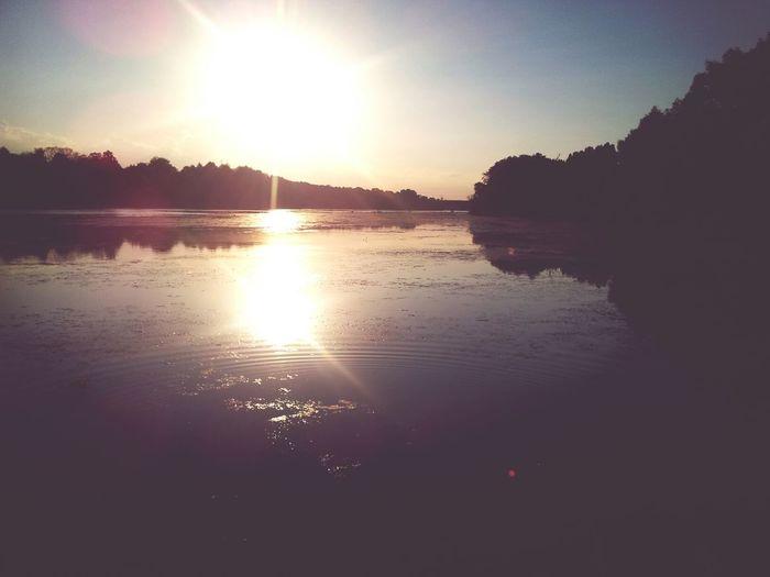 Chilling Outside Sunset Holidays Beautiful Day