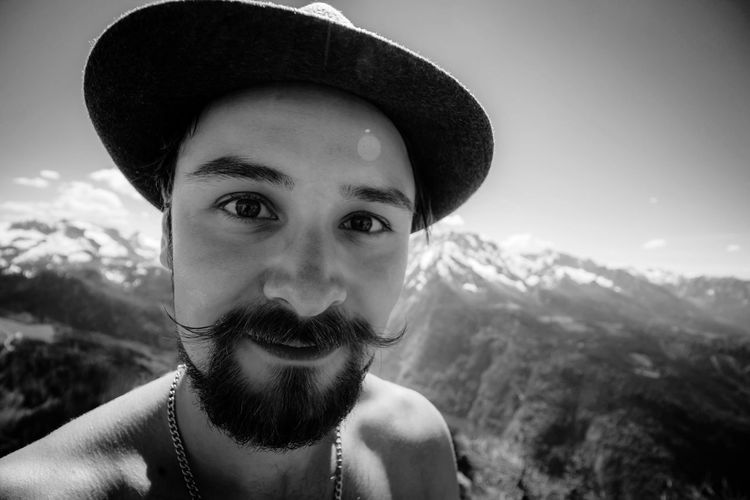 Wanderlust! 🏔🏕🏞 Wanderlust Wandering Portrait Looking At Camera Outdoors Men Landscape Nature Traveling Free Freedom EyeEmNewHere Adventure Hiking Hikingadventures Mustage HEAD Mountain Man Mountain Hiking Luckyme Only Men One Young Man Only Tracht Hiking❤ Happiness The Portraitist - 2017 EyeEm Awards Live For The Story Love Yourself