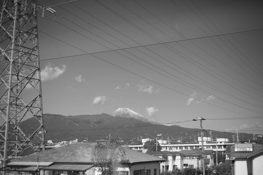 Fujisan Mount FuJi Architecture Building Building Exterior Built Structure Cable City Cloud - Sky Connection Day Electricity  Electricity Pylon Fuel And Power Generation Mountain Mountain Range Mountains Nature No People Outdoors Power Line  Power Supply Sky Snowcapped Mountain Transportation