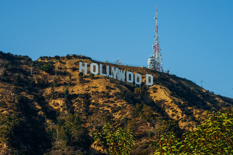 High-quality picture of Hollywood sign ( 300 ppi ) Architecture Nature Sky Tree Blue Building Travel Tourism Day Outdoors Tower Mountain Hollywood Plant Clear Sky Hollywood Hills Hollywood Sign Travel Destinations Low Angle View Building Exterior Built Structure Hollywood - California